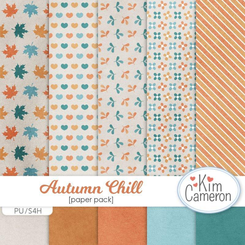 Autumn Chill Papers by Kim Cameron