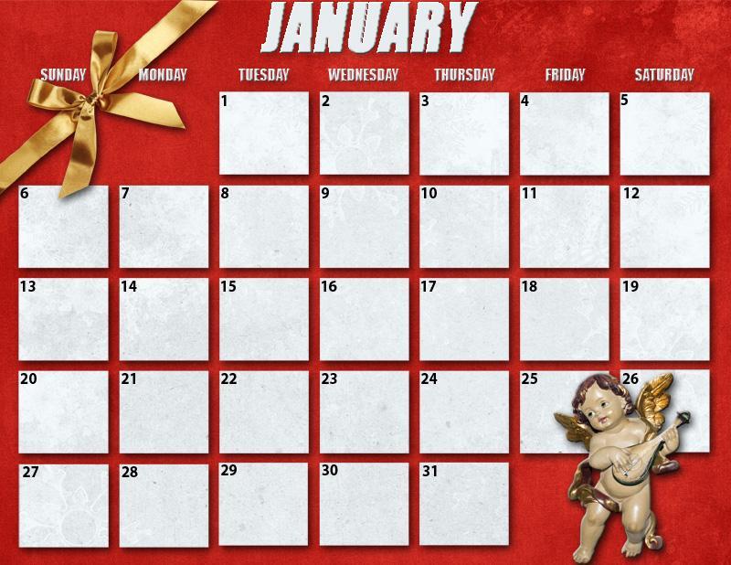 Christmas 2019 Calendar.Dss Jan 2019 Christmas In July Calendar Grid Member