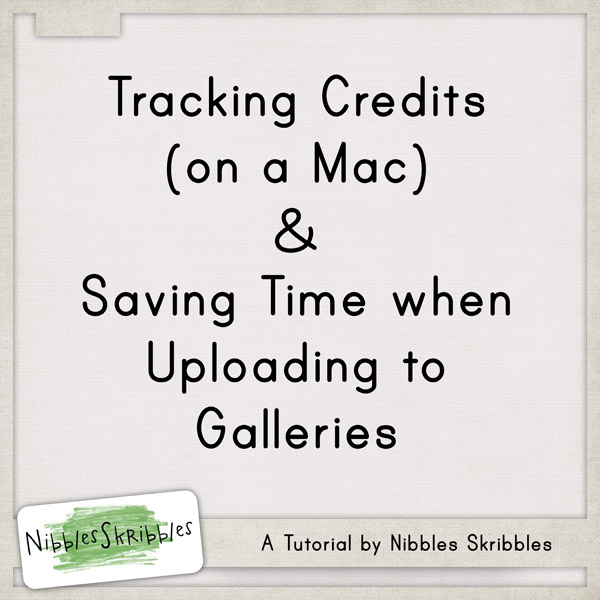 Post image for Tracking Credits {Mac} & a Time Saving Tip